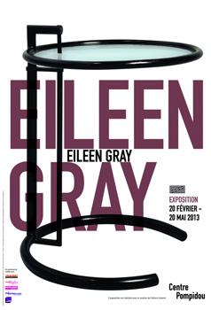 Centre Pompidou affiche Eileen Gray