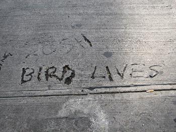 Bird, pintada realizada a la muerte de Charlie Parker en